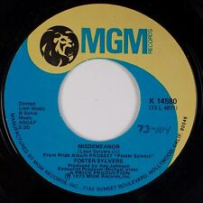 FOSTER SYLVERS: Misdemeanor US MGM K 14580 Soul Funk Classic Breaks 45 NM