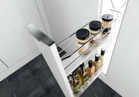 KITCHEN PULL OUT SLIDE CABINET STORAGE ORGANIZER SPICE BOTTLE RACK HOLDER BASKET