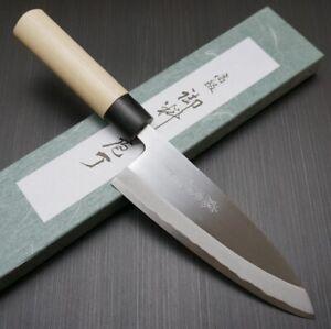 Japanese Tojiro SHIROGAMI White Steel Deba Knife Japan 180mm F-903