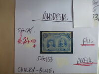 RHODESIA STAMP S.G. 133 2½d CHALKY BLUE F.U.