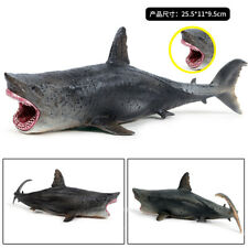 TOY Megalodon shark  JAWS Carcharodon carcharias 25cm Children gift figure safe
