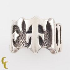 "Rugged Unique FTW Kreations Sterling Silver Biker Ring ""FTW"" Size 9.25"