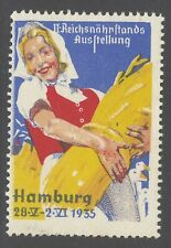 German poster stamps cinderella Exposition in Hamburg 1935 Ludwig Hohlwein