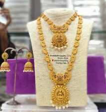 Bollywood Indian Traditional South Temple Ethnic Jewelry Gold Plated Necklace