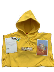 Supreme Bandana Box Logo Hooded Size XL Canary Hoodie
