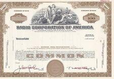 Radio Corporation Of America Specimen Stock Certificate Rca Nipper 1960'S Rare