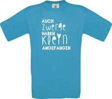 Kinder-Shirt Typo auch Zwerge haben klein angefangen kult Unisex T-Shirt, 104-16