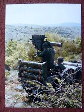 PHOTO PRESSE EUROMISSILE MISSILE ANTICHAR MILAN 2 ANTI TANK JEEP ARMEE FRANCAISE