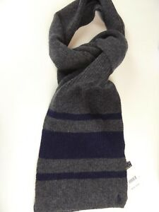Polo Ralph Lauren Rugby Striped Wool Cashmere Scarf $78 w/ Embroidered Pony NWT