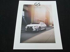 2018 Lexus GS Brochure Turbo GS300 GS350 AWD F-Sport & 450h Hybrid Sales Catalog