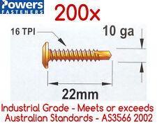 200x 10g-16 x 22mm Wafer Head Self Drilling Metal Tek Screws /Phillip Head Screw
