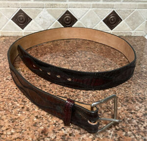 Nocona | Genuine Leather Lizard Belt Mens Size 42