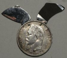 Coin Knife, Made from 1868 French 5 Francs, Scarce & Very Gemmy  0523-04