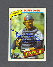 Duffy Dyer signed Montreal Expos 1980 Topps card