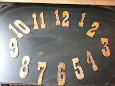 3 inch Rough Rusty Metal Vintage Western Number Full Clock Face Set (1-12)