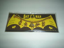 Vintage 1966 Batman Charm Bracelet on Reproduction Card Unpainted Version