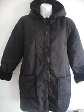 Sonia Rykiel Enfant GIRLS Black/Brown Faux Fur Hooded Reversible Winter Coat  12