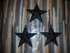 "Set of 3 Primitive Black 5.5"" Metal Barn Star - Ornaments, Crafting, 3D"