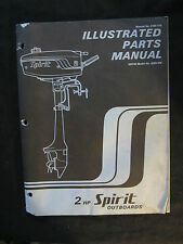 1977 Spirit Outboard Motor 2 HP Parts Catalog Manual 020702 0250-200