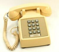 Western Electric Bell System 2500MMG Touchtone Telephone-Tan/ Beige