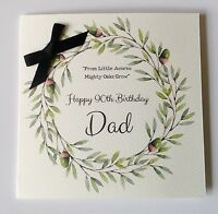 PERSONALISED WATERCOLOUR BIRTHDAY CARD Dad Grandad 50 60th 70th 80th 90th 100th