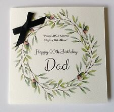 PERSONALISED WATERCOLOUR BIRTHDAY CARD Dad Grandad 50 60th 70th 80th 90th 100th