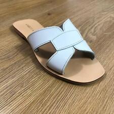 Kurt Geiger Carvela Ladies Sandals White Leather Flat RRP £69 Summer Holiday
