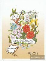 Ungarn Block224 (kompl.Ausg.) postfrisch 1993 Blumen