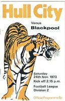 Hull City v Blackpool 1973/4 (24 Nov)