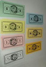 Disney Monopoly PLAY MONEY Game Parts Pieces