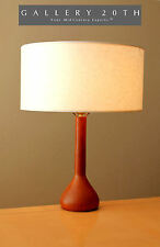 RARE! MID CENTURY DANISH MODERN TABLE DESK LAMP! Solid Teak Vtg 1950s 1960s Wood