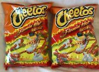 Frito Lay Cheetos Flamin' Hot Crunchy Lot of 2 -.5 oz Best By 7/14/20 Free Ship