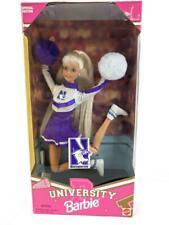 Vintage 1996 Barbie Northwestern University Wildcats Cheerleader Doll Mattel