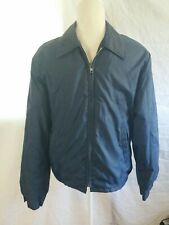 Vintage Sears Outerwear Fleece Lined Jacket Size Small Navy Blue Zip Up