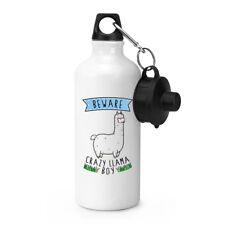 Hüten Sie sich vor verrückt Lama Boy Sport Getränkeflasche Zelten - lustig