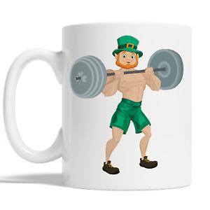 Leprechaun Body Builder Mug For St Patricks Day Coffee Cup Gift Idea Funny JA111