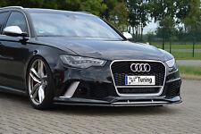 Sonderaktion: Frontspoiler Lippe Spoilerschwert ABS für VW Audi RS6 4G C7 ABE