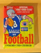 1989 Topps Football Wax Pack - Unopened (15 Cards, 1 Sticker, 1 Gum)