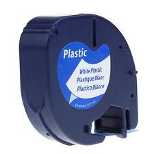 WHITE Plastic LetraTag 91331 Label Tape 91201 91221 Compatible Dymo LT-100 12mm