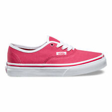 Vans Toddler Girls Pop Binding Authentic Sneakers Claret Red White 4.5 New