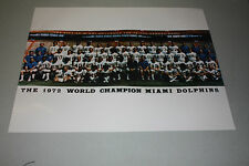 MIAMI DOLPHINS 1972 TEAM UNSIGNED 16x20 PHOTO SB VII CHAMPS 17-0