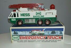 1996 Vintage Hess Emergency Truck In Original Box