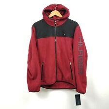 Tommy Hilfiger Mens Fleece Hoodie Jacket Medium M Red...