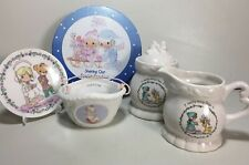 Precious Moments Collectibles Tin Creamer Sugar Collectors Plate & Basket