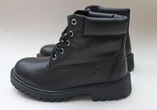 POLO RALPH LAUREN Angello  Boys Boots Black Leather -Size 2
