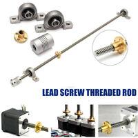 8mm Threaded Rod Trapezoidal T8 Lead Screw Set 600mm~1200mm For CNC 3D Printer