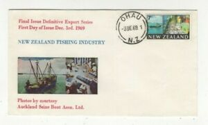 New Zealand 3 Dec 1969 Posted Ohau 1st Day Cover Fishing Industry 448c