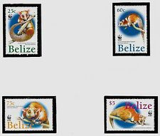 BELIZE SC 1177-80 NH issue of 2004 - WWF - ANIMALS - OPOSSUM