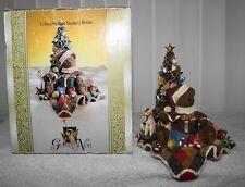 Grandeur Noel Bear Stocking Holder Bear Sitting by Tree W/ Presents - Heavy