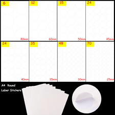 Supplies Stationery Tag Round Package Label White Stickers Self Adhesive Sticky